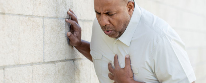 Chest pain from a heart attack